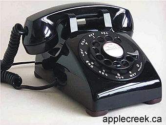 ACBG Telephone Standard Black Large